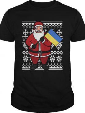 Ukraine Flag Santa Ukrainian Ugly Christmas shirt