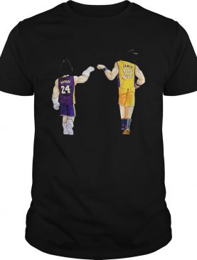 Vegeta Kobe Bryant and Goku Lebron James shirt