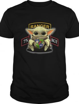 Baby Yoda Hug 75th Ranger Regiment shirt