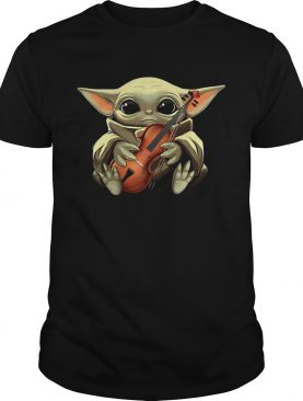 Baby Yoda Hugging Violin shirt