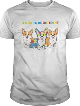 Corgi Autism Its Ok To Be Different shirt