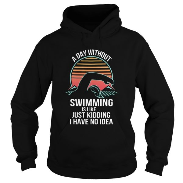 A Day Without Swimming IS Like Just Kidding I Have No Idea  Hoodie