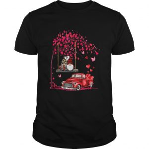 Gnomes Red Truck Tree Valentines Day  Unisex
