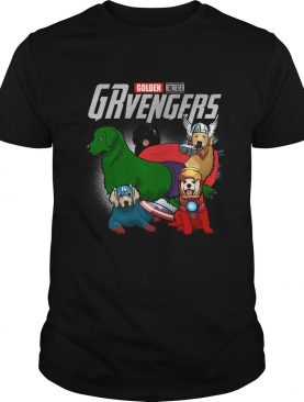 Golden Retriever GRvengers Marvel Avengers shirt