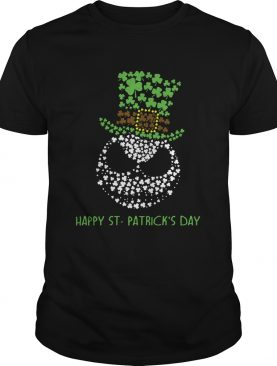 Happy St Patricks day Jack Skellington face shirt