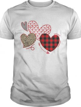 Hearts And Arrows Leopard Plaid Valentines Day shirt