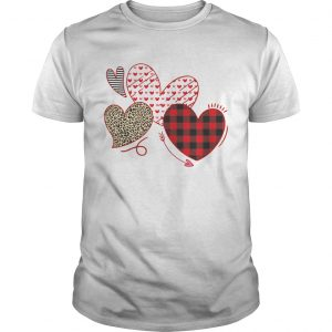 Hearts And Arrows Leopard Plaid Valentines Day  Unisex