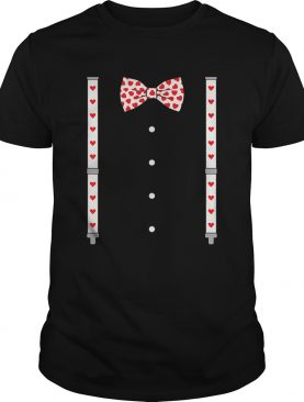 Hearts Bow TieSuspenders Valentines Day Costume shirt