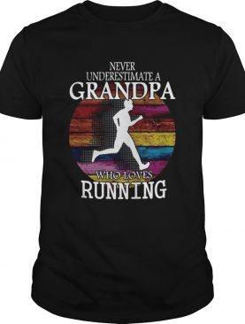 Never Underestimate A Grandma Who Loves Running Vintage shirt