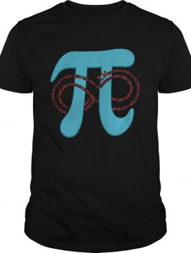 Pi Number 3141 Infinity Funny Geek shirt