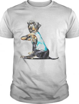 Rottweiler Tattoos I Love MOM Sitting Gift Mothers Day shirt