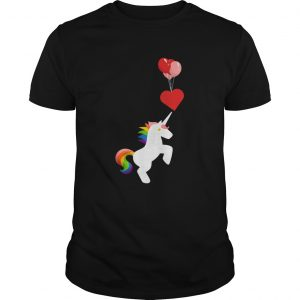 Unicorn Balloon Love Heart Valentines Day  Unisex