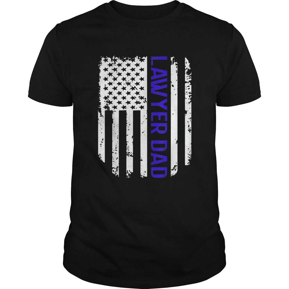 Vintage American Flag Proud Lawyer Dad Unisex