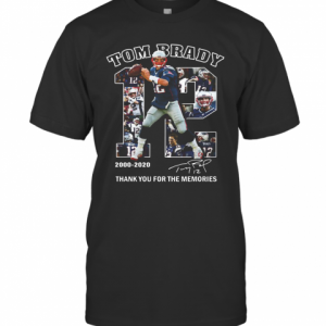 12 Tom Brady Thank You For The Memories 2000 2020 T-Shirt Classic Men's T-shirt