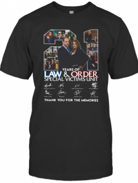21 Years Of Law And Order Special Victims Unit Thank You For The Memories T-Shirt