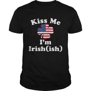 American Flag Kiss Me Im Irish St Patricks Day  Unisex