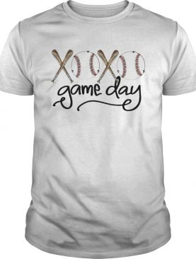 Baseball xoxo game day shirt