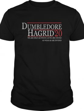 Dumbledore Hagrid 20 We Are Only As Strong As We Are United shirt
