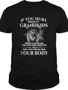 If You Hurt One Of My Grandkids There Is No Place You Can Hide From Me shirt