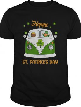 Leprechaun Gold Pot Hippie Car Funny St Patricks Day shirt