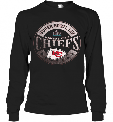 NFL Pro Line By Fanatics Branded Red Kansas City Chiefs Super Bowl LIV Bound In The Zone Metallic T-Shirt Long Sleeved T-shirt