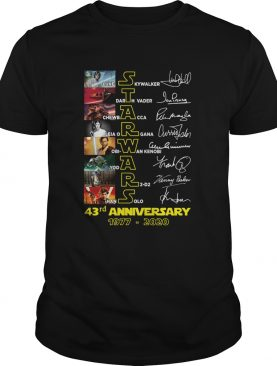 Star Wars Luke Skywalker Darth Vader Chewbacca 43rd Anniversary 1977 2020 Signatures shirt