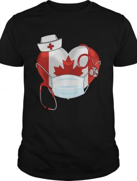 Stethoscope Love Nurse Canadian 2020 Coronavirus shirt