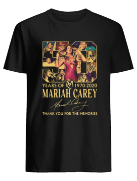 50 Years Of 1970 2020 Mariah Carey Thank You For The Memories Signature shirt