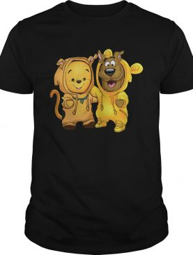 Baby Pooh and Scooby Doo shirt