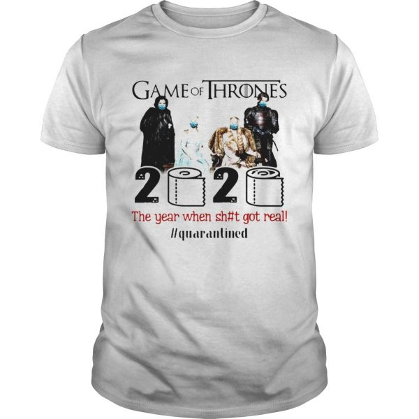 Game Of Thrones Movie 2020 The Year When Shit Got Real Quarantined Toilet Paper Mask Covid19  Unisex