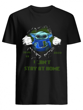 Blood Inside Me Baby Yoda Miami Hurricanes Covid 19 2020 I Can't Stay At Home shirt