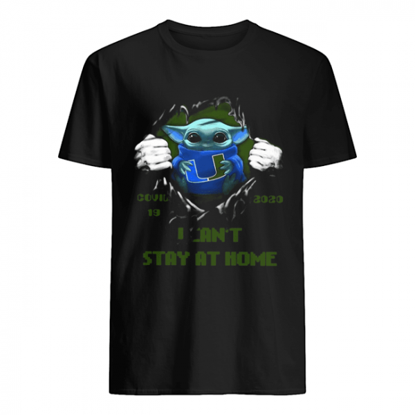 Blood Inside Me Baby Yoda Miami Hurricanes Covid 19 2020 I Can't Stay At Home  Classic Men's T-shirt