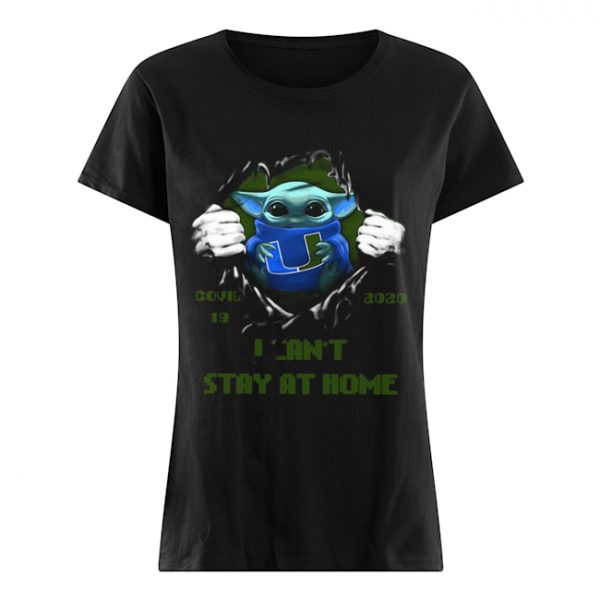 Blood Inside Me Baby Yoda Miami Hurricanes Covid 19 2020 I Can't Stay At Home  Classic Women's T-shirt