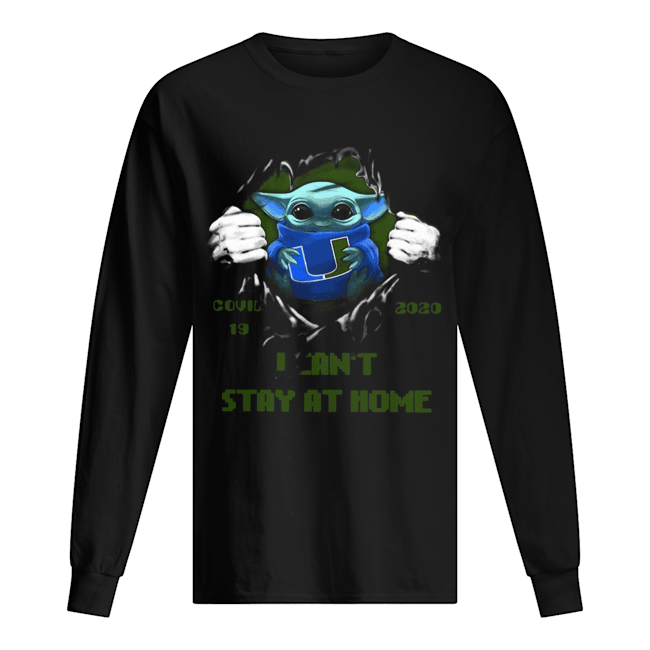 Blood Inside Me Baby Yoda Miami Hurricanes Covid 19 2020 I Can't Stay At Home  Long Sleeved T-shirt