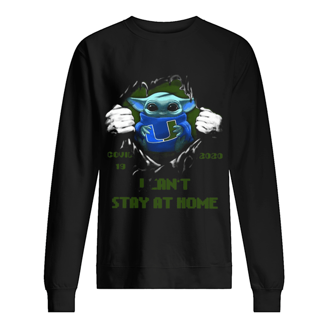 Blood Inside Me Baby Yoda Miami Hurricanes Covid 19 2020 I Can't Stay At Home  Unisex Sweatshirt