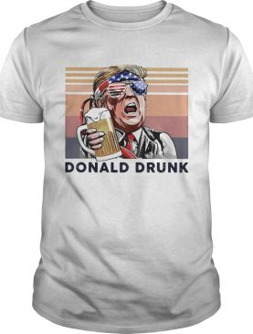 Donald Trump drunk beer American flag veteran Independence Day vintage shirt