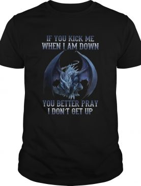 Dragon If You Kick Me When I Am Down You Better Pray I Dont Get Up shirt