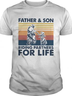 Father And Son Riding Partners For Life Vintage shirt