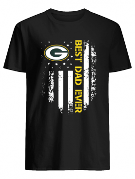 Green Bay Packers Best Dad Ever American Flag shirt