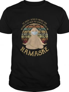 The sask I wear to protect you recognise the mask you sloth namaske vintage shirt