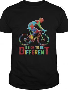 bicycle autism its ok to be different shirt