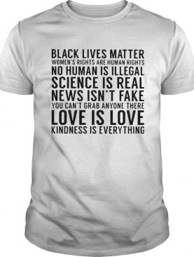 Black lives matter womens rights are human rights no human is illegal science is real news isnt f
