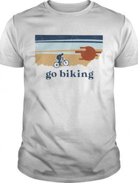 Go biking sunset vintage shirt