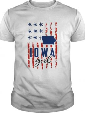 IOWA girl American flag veteran Independence day shirt