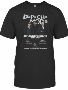 Official DPCH Mod 40Th Anniversary 1980 2020 Thank You For The Memories Signatures T-Shirt