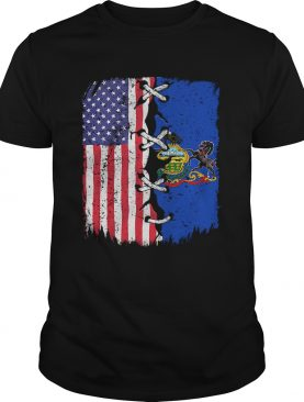 Pennsylvania And American Flag Independence Day shirt