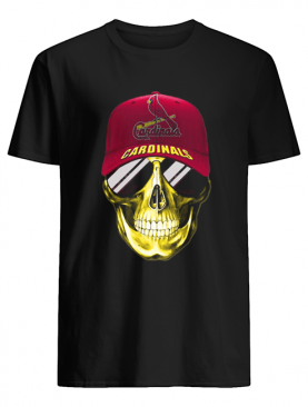 Skull smile st. louis cardinals baseball shirt