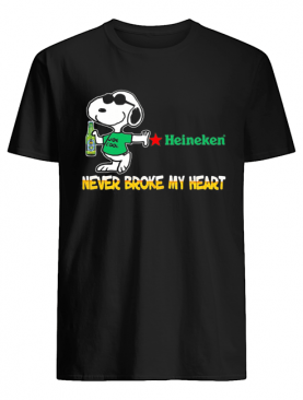Snoopy heineken beer never broke my heart shirt
