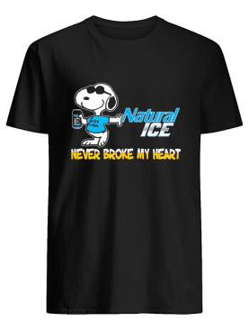 Snoopy natural ice beer never broke my heart shirt