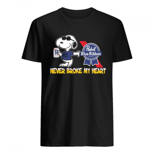 Snoopy pabst blue ribbon beer never broke my heart  Classic Men's T-shirt
